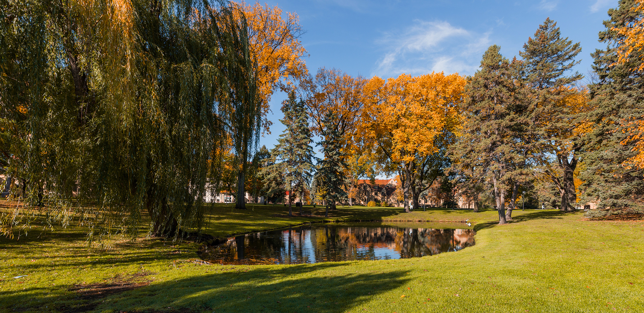 Prexy's Pond in Fall