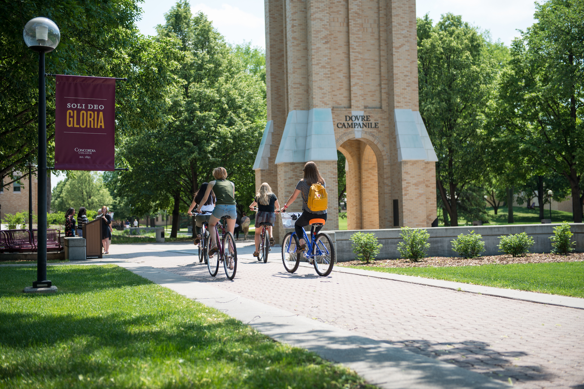 Biking By the Bell Tower