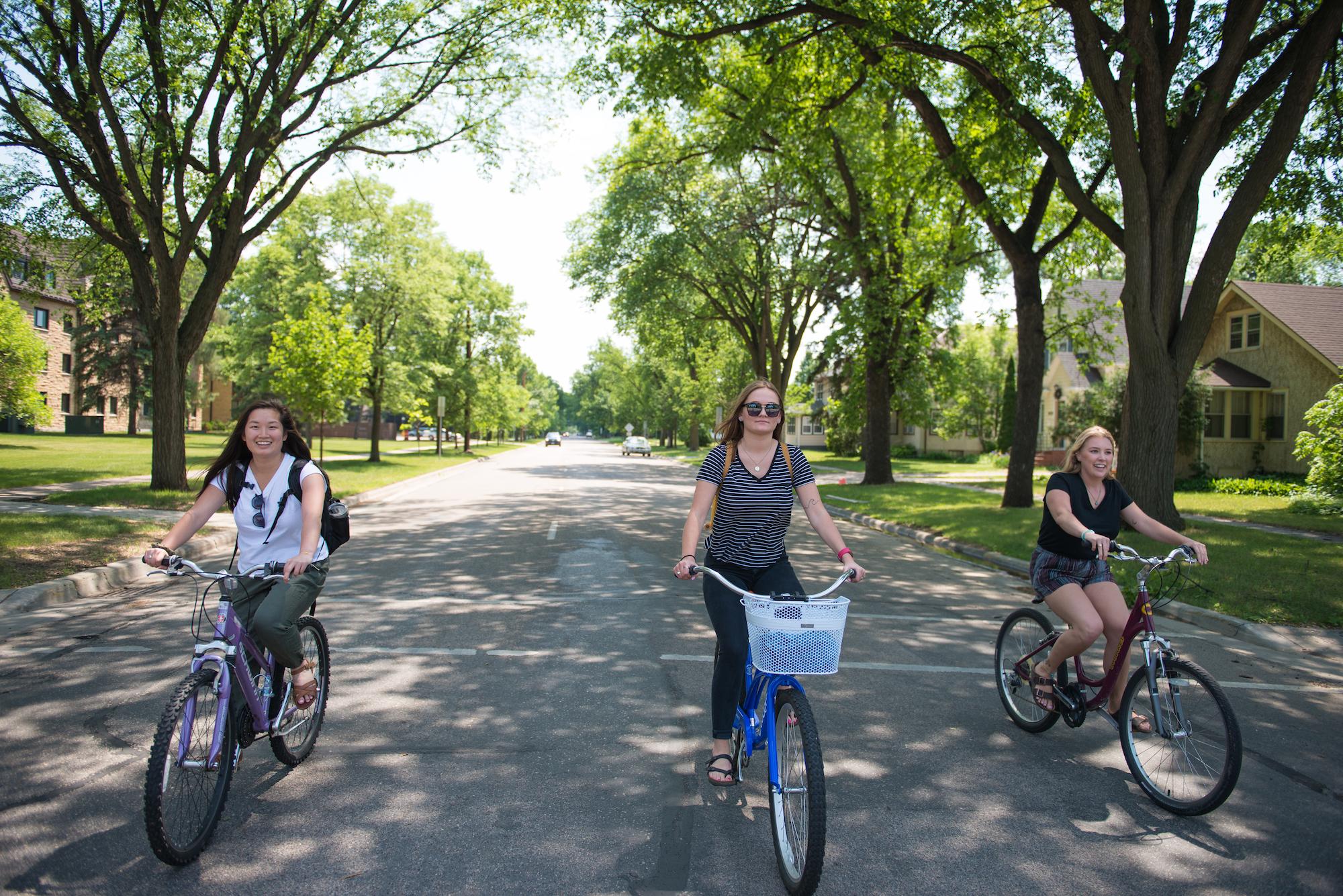 Friends Bike on Road