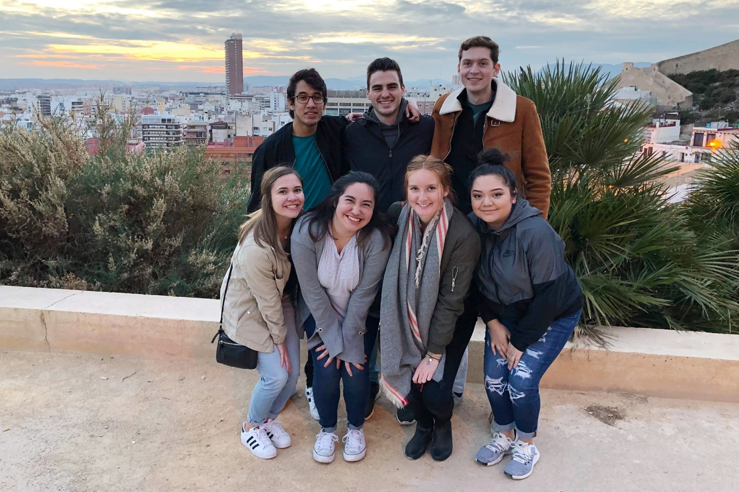 Jackson Booth with study abroad group
