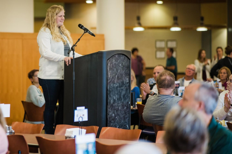 Katie Ohren speaking