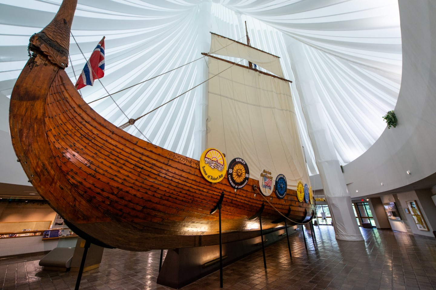 Viking Ship in Hjemkomst Center