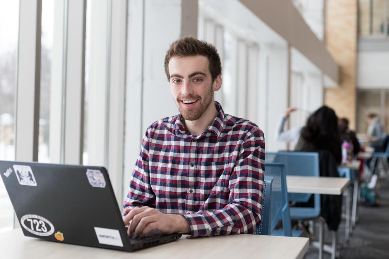 Jack Fiskum at laptop in ISC