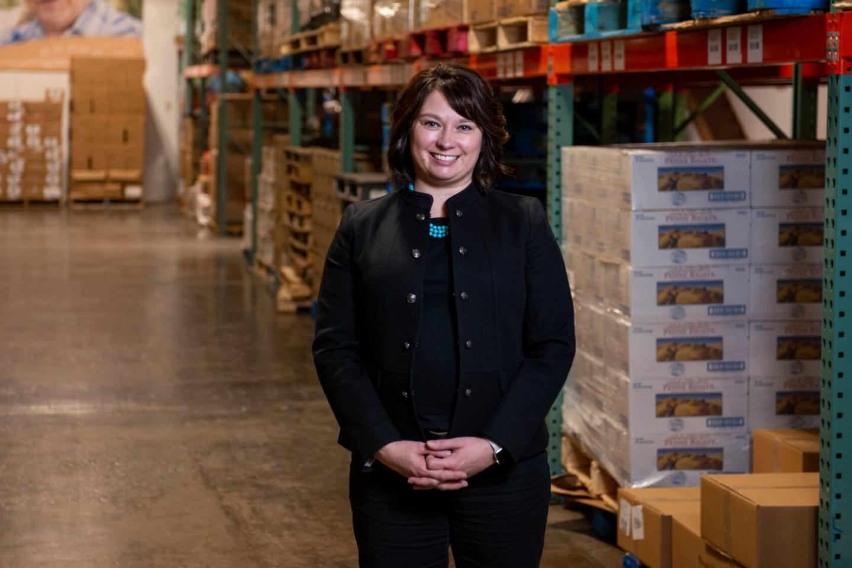 Melissa Sobolik at Food Bank