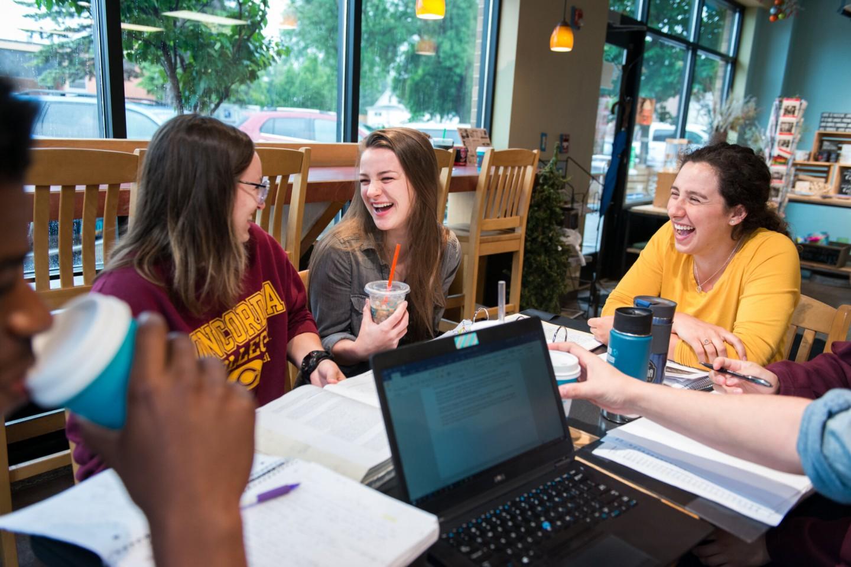 students studying at Third Drop