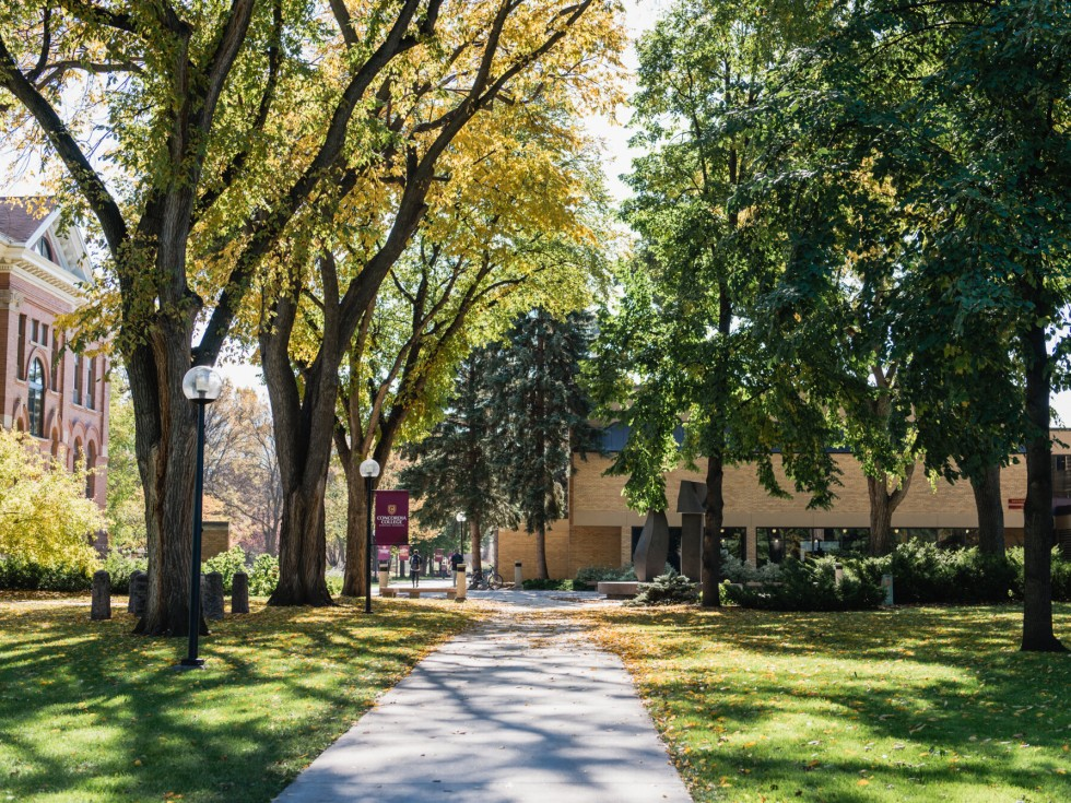 Campus in the fall.
