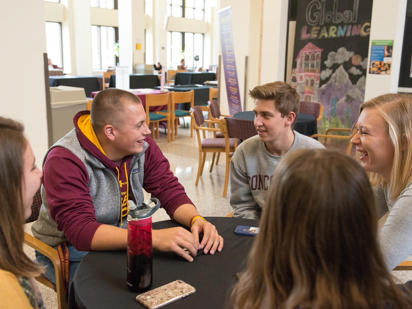 Tate Hovland and students in KCC