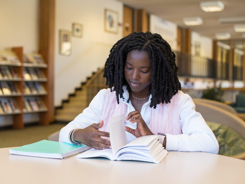 Zahra studies in library