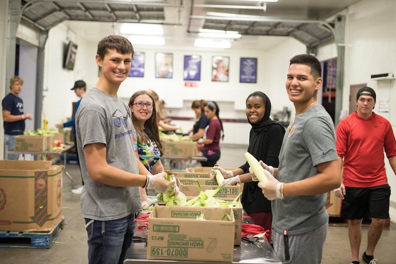Volunteering at Food Shelter